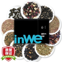 inWE因味茶小黑方袋泡茶花茶组合茶包花草茶加量50%分享装45g/15袋