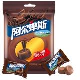 阿尔卑斯醇正巧克力味牛奶硬糖袋150g牛奶糖 休闲零食(新老包装交替发货)