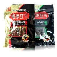 四川特产 休闲零食 高原亚可风干手撕牛肉干麻辣味86g (新老包装随机发放)