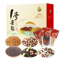 禾煜 1号杂粮礼盒(藜麦 奇亚籽 芡实 黑豆血糯米粥料等)2900g