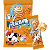 阿尔卑斯香橙牛奶味硬糖棒棒糖(20支装)200克牛奶糖 儿童用糖休闲零食