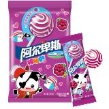 阿尔卑斯树莓牛奶味硬糖棒棒糖(20支装)200克牛奶糖 儿童用糖休闲零食