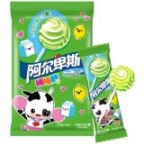 阿尔卑斯柠檬牛奶味硬糖棒棒糖(20支装)200克牛奶糖 儿童用糖休闲零食