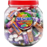 曼妥思劲嚼充气糖混合味迷你大罐(100支)1kg薄荷糖 儿童用糖休闲零食送礼佳品