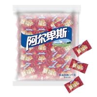阿尔卑斯 田园草莓牛奶硬糖(约250颗)散糖袋装1kg牛奶糖 婚庆喜糖企业用糖(新老包装交替发货)