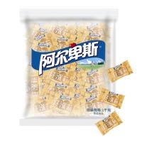 阿尔卑斯 焦香源味牛奶味硬糖(约250颗)散糖袋装1kg牛奶糖 婚庆喜糖休闲零食企业用糖(新老包装交替发货)