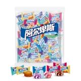 阿尔卑斯 牛奶混合硬糖(约250颗)散袋装1kg(源味、草莓、甜橙、葡萄、特浓)婚庆喜糖企业用糖(新老包装交替发货)
