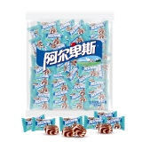 阿尔卑斯 奶香曲奇味牛奶硬糖(约250颗)散糖袋装1kg牛奶糖 婚庆喜糖休闲零食企业用糖(新老包装交替发货)