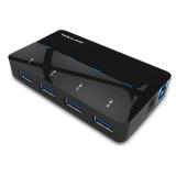 睿因(Wavlink) WL-UH3042P1 超高速USB3.0 4口HUB集线器带12V2A电源(支持快速充电)