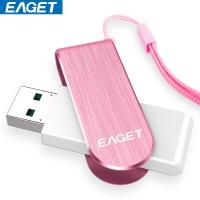 忆捷(EAGET)F50 USB3.0高速情侣金属U盘32G 360度旋转款粉色