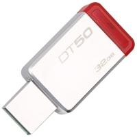 金士顿(Kingston)USB3.1 32GB 金属U盘 DT50 高速车载U盘 红色