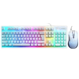 优派(ViewSonic)CU3100游戏键鼠套装 机械键盘手感 幻彩背光 19键无冲 白色版