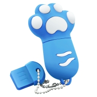 权尚(Transshow) 卡通系列/多彩猫爪 32GB 创意礼品 U盘 蓝色