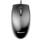 新贵(Newmen) N107 有线鼠标 办公鼠标 笔记本鼠标 USB鼠标 黑色 6只装