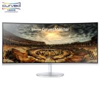 三星(SAMSUNG)34英寸 1500R大曲率 100Hz量子点高分辨率曲面 电脑显示器 C34F791WQC (HDMI/DP双接口)