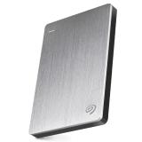 希捷(Seagate)Backup Plus睿品1TB USB3.0 2.5英寸 移动硬盘 金属皓月银(STDR1000301)