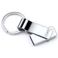 banq F90 64GB USB3.0高速全金属大钢环U盘 防水防震尊贵版 雪白银