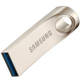 三星(SAMSUNG)Bar 64GB USB3.0 U盘 读150M/s 电脑、车载U盘金属银