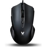 雷柏(Rapoo) V20S 电竞鼠标 游戏鼠标 有线鼠标 笔记本鼠标 黑色