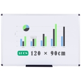 AUCS 120*90cm 磁性白板写字板 办公教学家用挂式白板 QUR1290L