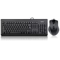 双飞燕(A4TECH) KB-N9000 有线鼠标键盘套装 有线键盘鼠标套装 有线键鼠套装 电脑键盘 黑色