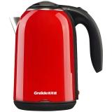格来德(Grelide)电热水壶 304不锈钢烧水壶 PTC保温双层防烫 WWK-D1701K 1.7L容量电水壶(红色)