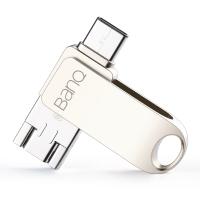 banq C80 OTG手机U盘16GB Typec/Micro/USB3.0三合一防水防震安卓手机电脑车载U盘