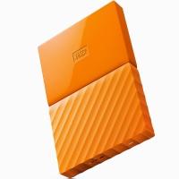 西部數據(WD)My Passport 1TB 2.5英寸 活力橙 移動硬盤 WDBYNN0010BOR-CESN
