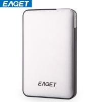 忆捷(EAGET) E600 2.5英寸USB3.0全盘加密高速防震移动硬盘1TB银色
