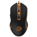 达尔优(dareu)EM905 专业级游戏炫橙光有线鼠标 黑黄色 绝地求生吃鸡鼠标