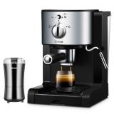 东菱(Donlim)DL-KF500 半自动意式咖啡机 胶囊易理包咖啡粉三合一