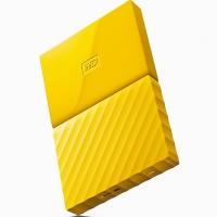 西部数据(WD)My Passport 1TB 2.5英寸 清新黄 移动硬盘 WDBYNN0010BYL-CESN