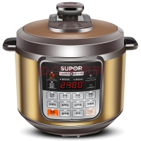 苏泊尔(SUPOR)电压力锅 一锅双胆 一键减压 智能控温 CYSB60YCW10D-110 6L高压锅