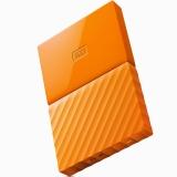 西部数据(WD)My Passport 4TB 2.5英寸 活力橙 移动硬盘 WDBYFT0040BOR-CESN