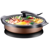 蘇泊爾(SUPOR)電餅鐺家用煎烤機JJ34D801-180煎烤燉煮燜涮一體