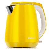 奔腾(POVOS)电热水壶 304不锈钢 双层防烫 烧水壶 PK1508 1.5L电水壶 黄色(S1557)
