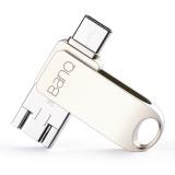 banq C80 OTG手机U盘32GB Typec/Micro/USB3.0三合一防水防震安卓手机电脑车载U盘