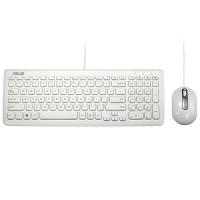 华硕(ASUS)KM-100白 超薄有线键鼠套装