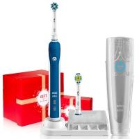 博朗 欧乐B(Oralb)电动牙刷 3D声波震动成人充电式牙刷 清除牙渍 配EB18、EB50双刷头 P4000