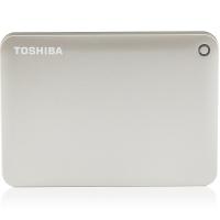 东芝(TOSHIBA)V8 CANVIO高端系列 2.5英寸 移动硬盘(USB3.0)2TB(尊贵金)