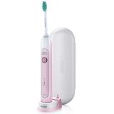 飛利浦(PHILIPS)電動牙刷HX6761/03亮白型成人充電式聲波震動牙刷粉色