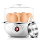 志高(CHIGO)煮蛋器蒸蛋器防干燒可煮7個蛋配蒸碗ZDQ208 白色