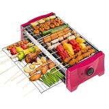 亨博(hengbo)电烧烤炉 家用电烤炉 双层烤网无烟不沾易清洗 SC-528A-1