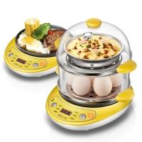 小熊(Bear)煮蛋器 家用早餐机煎蛋器蒸蛋机烙饼机双层多功能微电脑智能预约防干烧 ZDQ-A14T1