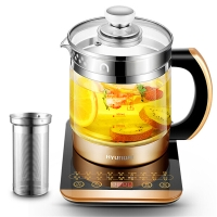 现代(HYUNDAI)养生壶多功能玻璃加厚煮茶器BD-YS1802黑金