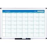 AUCS 120*90cm 双面月计划表格白板 办公教学家用磁性挂式写字板白板 MP1290L