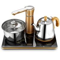 澳柯玛(AUCMA)电热水壶 304不锈钢烧水壶 自动上水壶 消毒锅 ADK-1350H28 0.8L电水壶 黑色