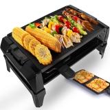 利仁(Liven)电烧烤炉家用电烤盘烧烤机无烟不粘烤肉锅DKL-30A
