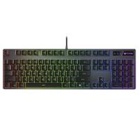 雷柏(Rapoo) V806 104键欧姆龙轴机械键盘 RGB背光键盘 游戏键盘 吃鸡键盘 电竞键盘 黑色