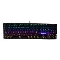 赛德斯(Sades)烽影 金属RGB发光电竞游戏机械键盘电脑家用外设牧马人风格 绝地求生吃鸡(黑色RGB 黑轴)
